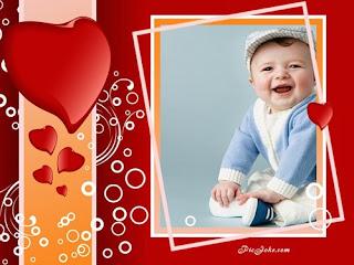 Moldura com corações e bolhas