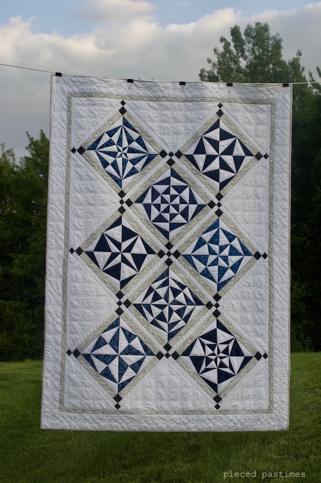 Modified Ice Crystals Quilt at Pieced Pastimes