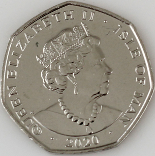 Isle of Man 50 pence 2020 common side