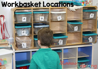 How I set up workbaskets in my classroom