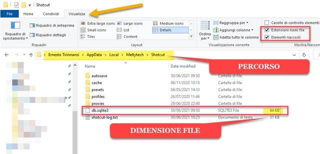 file db.sqlite3 ripristinato