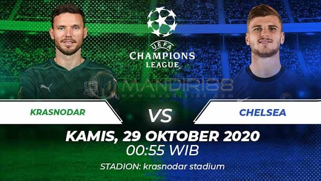 Prediksi Krasnodar Vs Chelsea, Kamis 29 Oktober 2020 Pukul 00.55 WIB @ SCTV