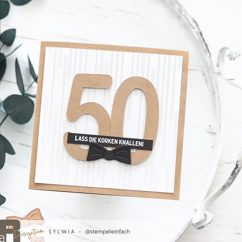 50. Geburtstag-Karte-Renke