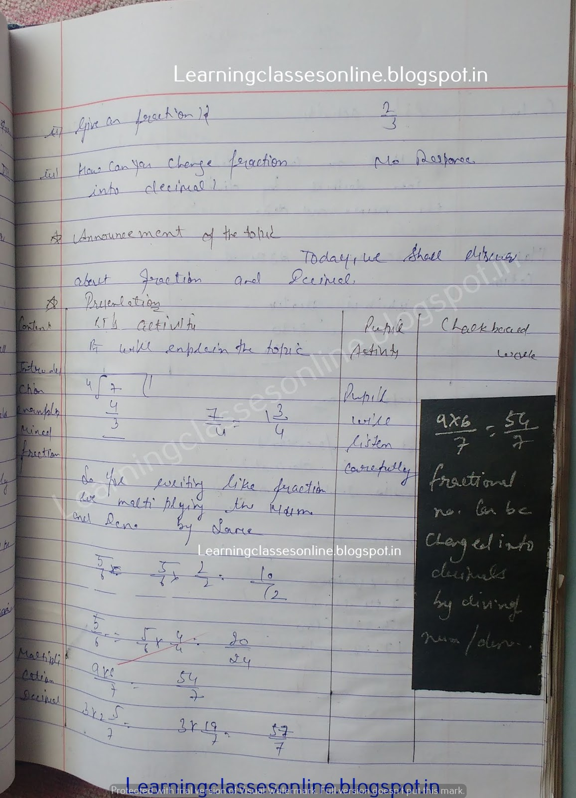 Brief Lesson Plan In Mathematics,