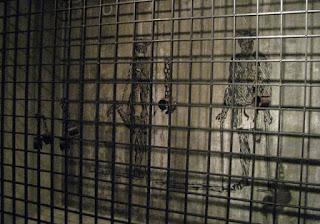 painel com representação de escravos no Museu dos Descobrimentos em Belmonte