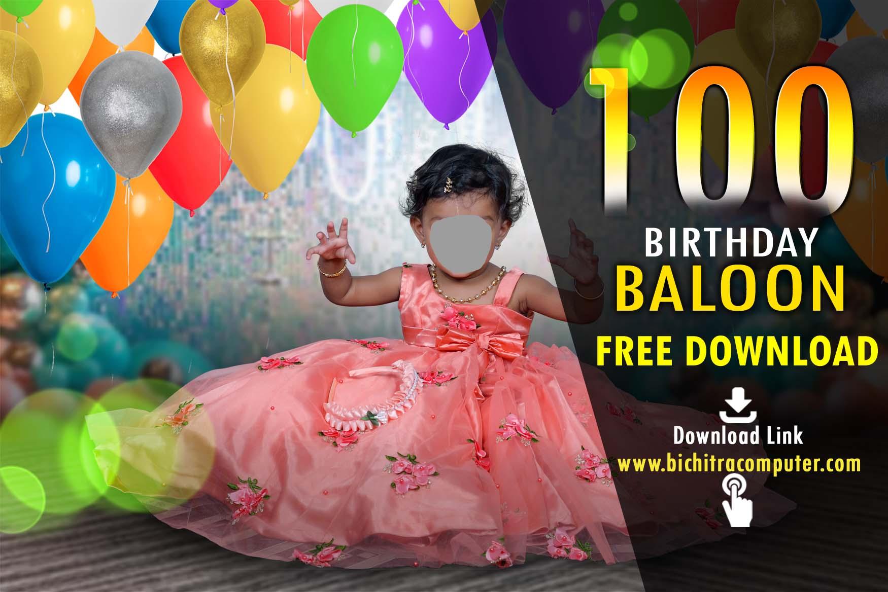 Birthday Baloon, Colourful Balloon