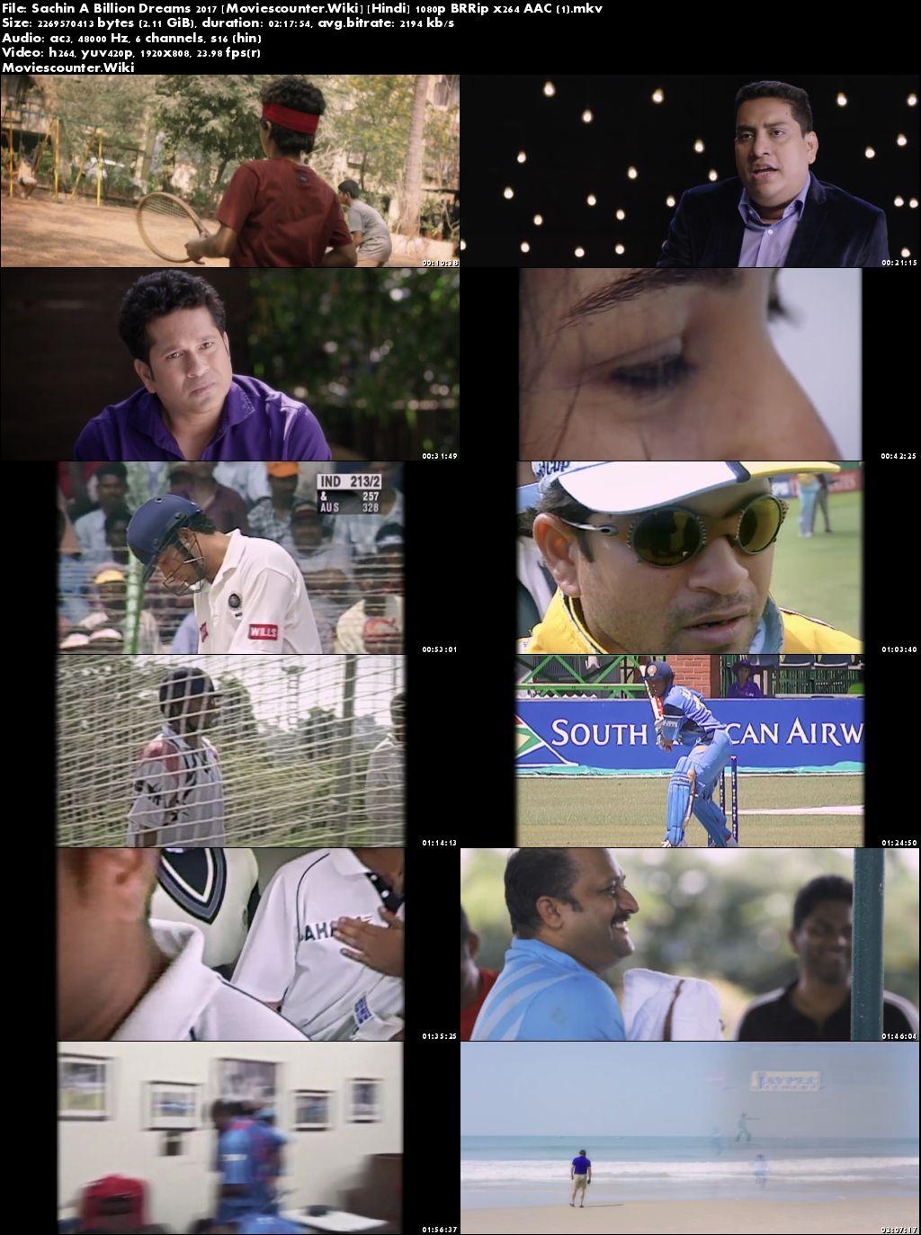 Screen Shots Sachin A Billion Dreams 2017 Hindi HD 1080p