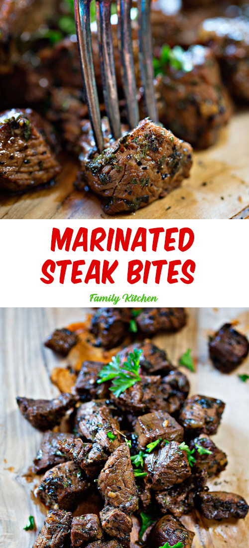 Marinated Steak Bites (Amazing Tender Steak)