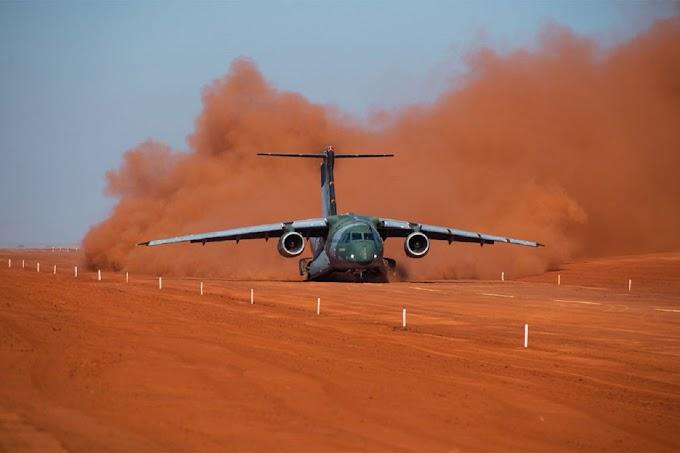Embraer cria sua própria pista de terra para colocar o maior avião já feito no Brasil