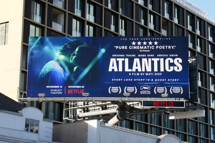 Atlantics movie FYC billboard