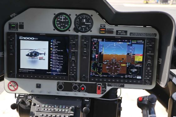 Bell 407GXi cockpit