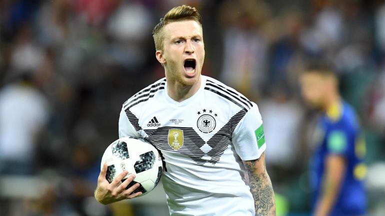 O meia-atacante Marco Reus foi eleito pelos torcedores o melhor jogador da seleção  alemã em 2018. O camisa 11 ficou com 33 c0f989eed9d26