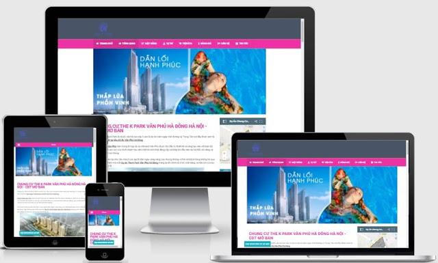 Template blogspot bất động sản miễn phí