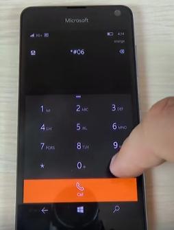 windows phone - microsoft lumia 650 - Emei number