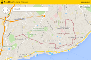 Mapping the Lisbon Tram 28 route on