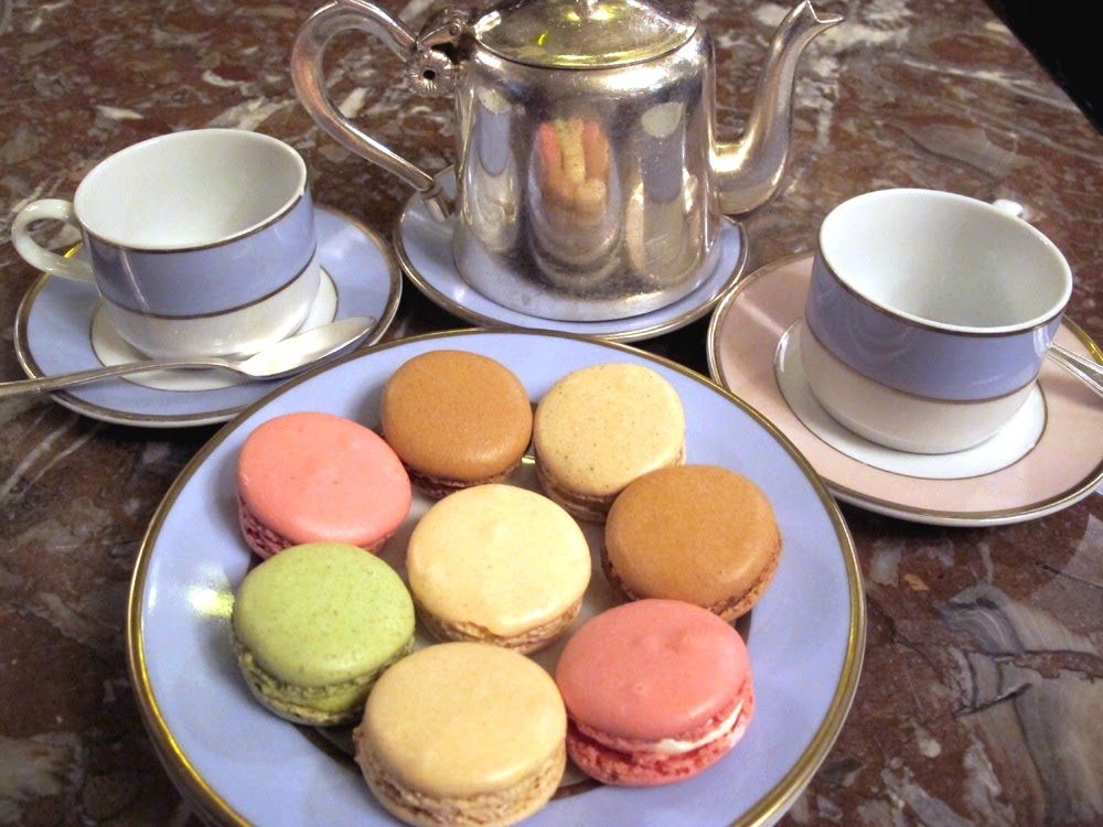 The best macarons from Laduree, Champs Elysee tea salon
