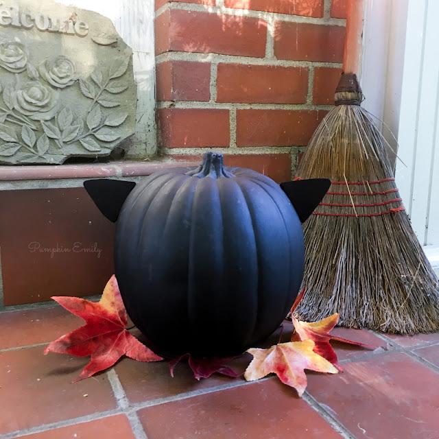 DIY Cat Pumpkin