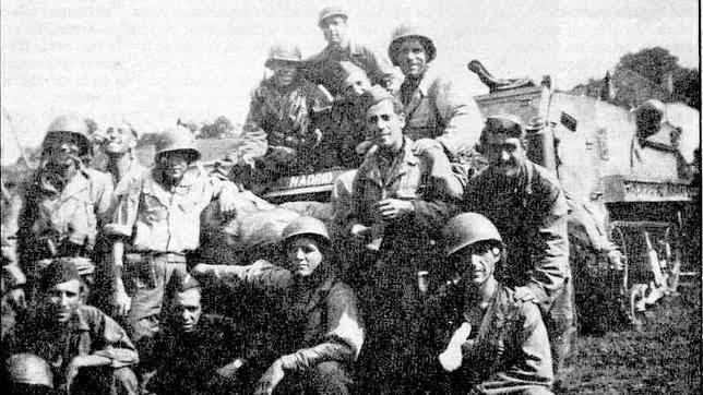 """soldados españoles de la """"Nueve"""""""