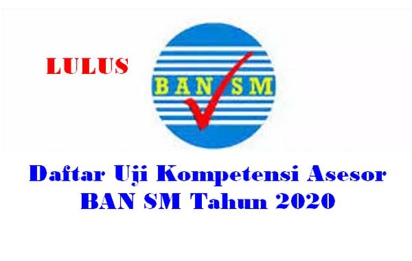 Daftar Uji Kompetensi Asesor BAN SM Tahun 2020