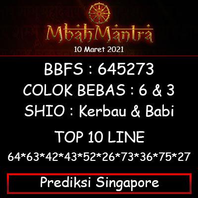 Prediksi Angka Singapore 10 Maret 2021