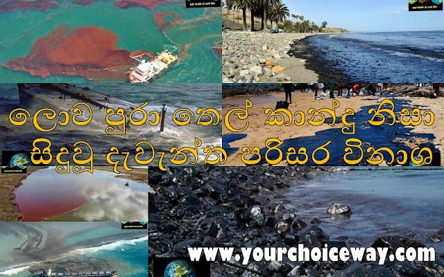 ලොව පුරා තෙල් කාන්දු නිසා සිදුවූ දැවැන්ත පරිසර විනාශ (Oil Spills Around The World) - Your Choice Way