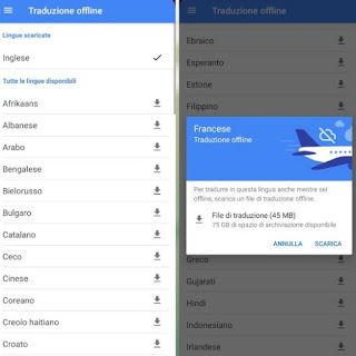 Download lingue Android