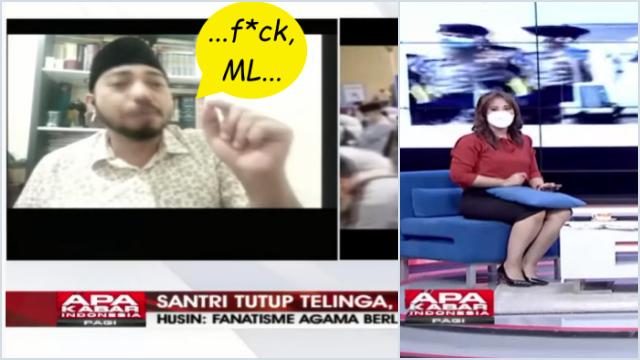 Husin Shihab Ngomong Jorok Vulgar saat Live TV soal Santri, Presenter: Pak Lebih Sopan Dikit