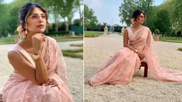Priyanka Chopra Bollywood fashion saree