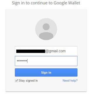 Sign in ke google wallet