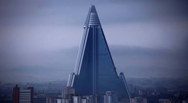 "The Ryugyong hotel is also recognized by ""hotel of doom"". It was once wished to be the highest among the worldwide hotels. But, unfortunately, the construction was cancelled due to financial reasons in 1992 for this 3000 rooms and 105 story building, however, restarted in the year 2008.   Rather than turning out to be the highest among the worldwide hotels, most of the people consider Ryugyong as the most badly planned construction worldwide. It is the most ridiculous thing to think about who would ever desire to reside here?"
