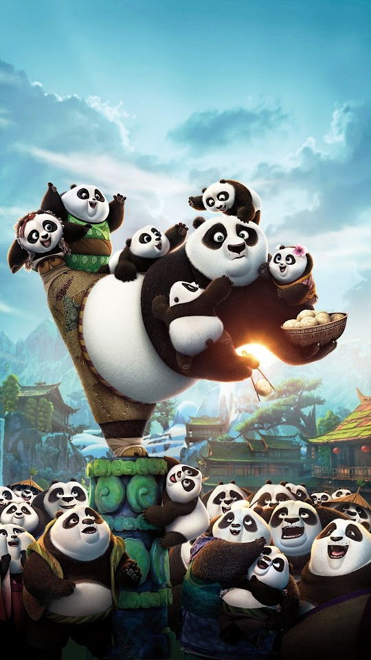 Kung Fu Panda 3 Cute Panda Galaxy Note HD Wallpaper
