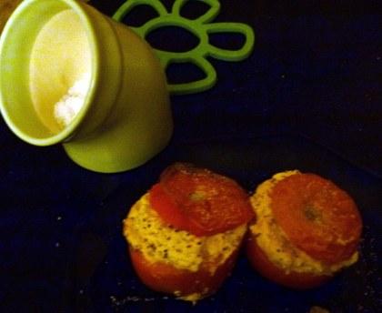 Tomatoes stuffed with brandade