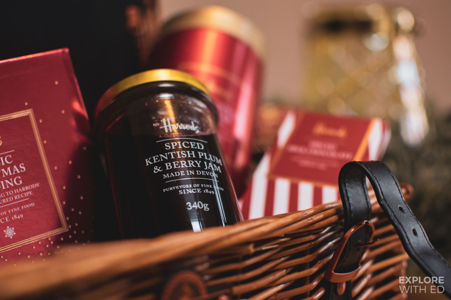 Harrods Christmas Hamper spiced Kentish plum and berry jam