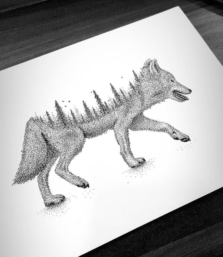 07-Double-exposure-wolf-Tobias-www-designstack-co