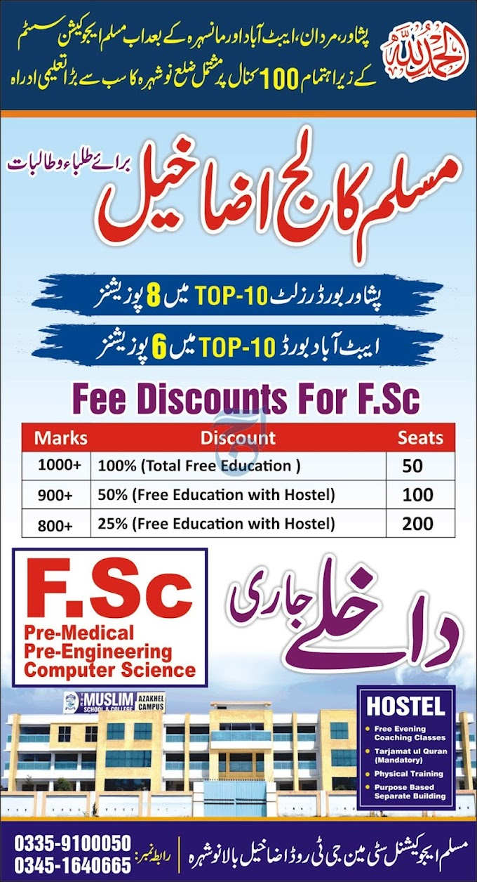 Muslim College Nowshera Admissions