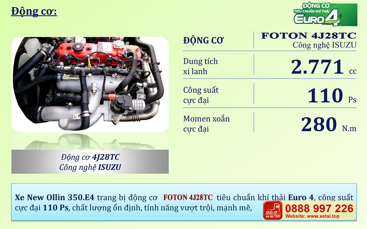 Động cơ công nghệ ISUZU - FOTON 4J28TC