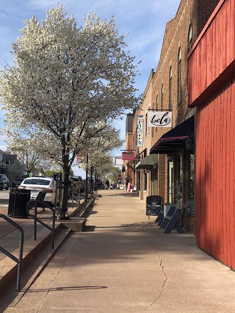 Ambling through quaint shops in LeClaire, Iowa.