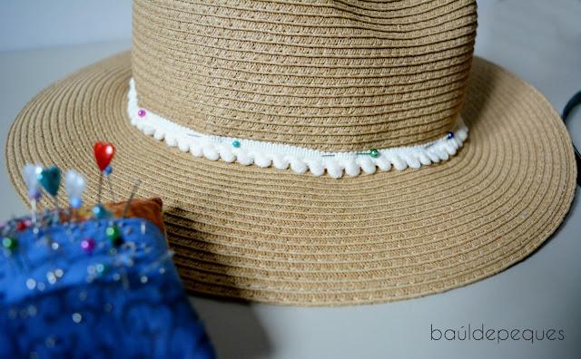 personalizar sombrero de paja con cintas