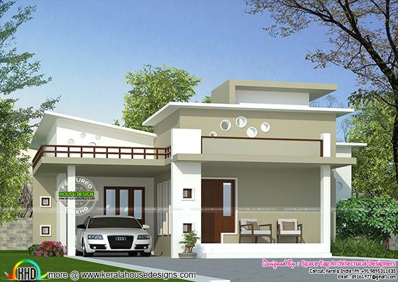 Low cost kerala home design kerala home design and floor for Low cost per square foot house plans