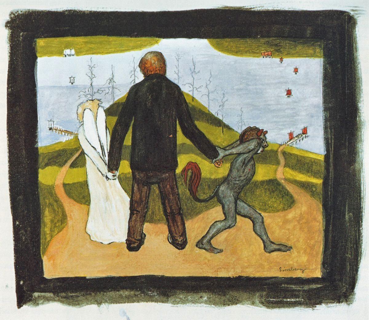 Tienhaarassa - Hugo Simberg e seus simbolismos ~ O artista ansiava por solidão e paz