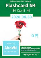 FlashCard Kanji N4 AhoVN