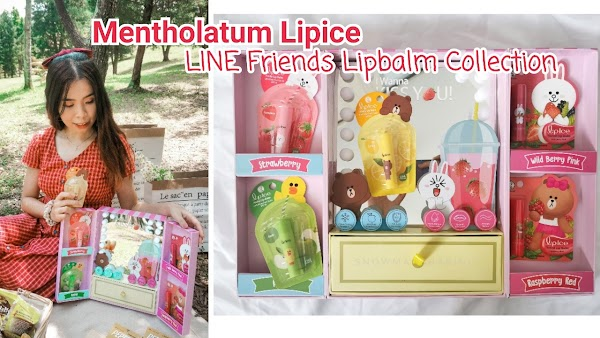 Mentholatum Lipice LINE Friends Lipbalm Collection | Keep Your Lips Moisturized And Nourished