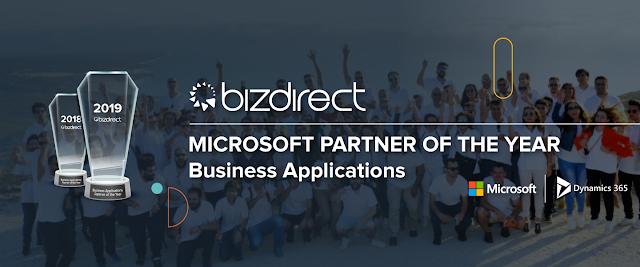 Bizdirect volta a ser nomeada parceiro do ano da Microsoft em CRM