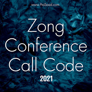 Zong Conference Call Code 2021
