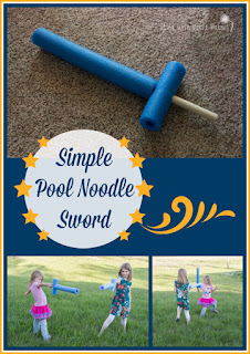 Make Your Own Simple Pool Noodle Swords