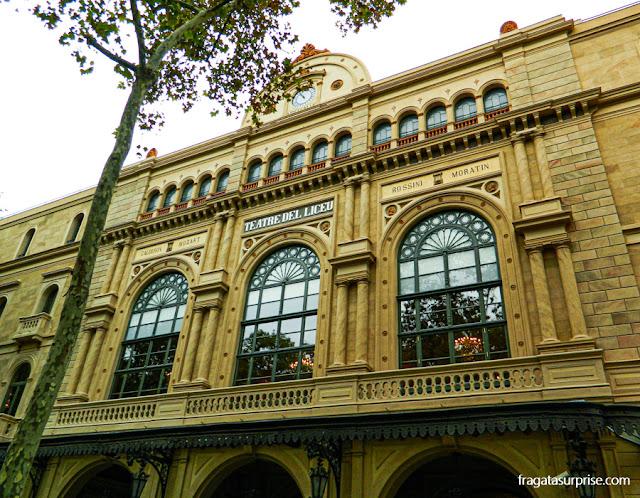 Teatro Liceu, nas Ramblas de Barcelona