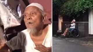 Viral! Kisah Sedih Kakek Renta yang Diludahi dan Dipukul Istri, Berharap Segera Mati