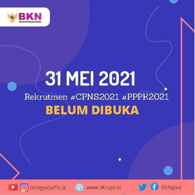31 Mei 2021 Rekrutmen CPNS 2021 Dan PPPK 2021 Kabupaten Rembang Belum Dimulai