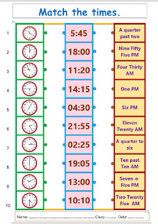 Materi bahasa inggris kelas 3 sd tentang waktu