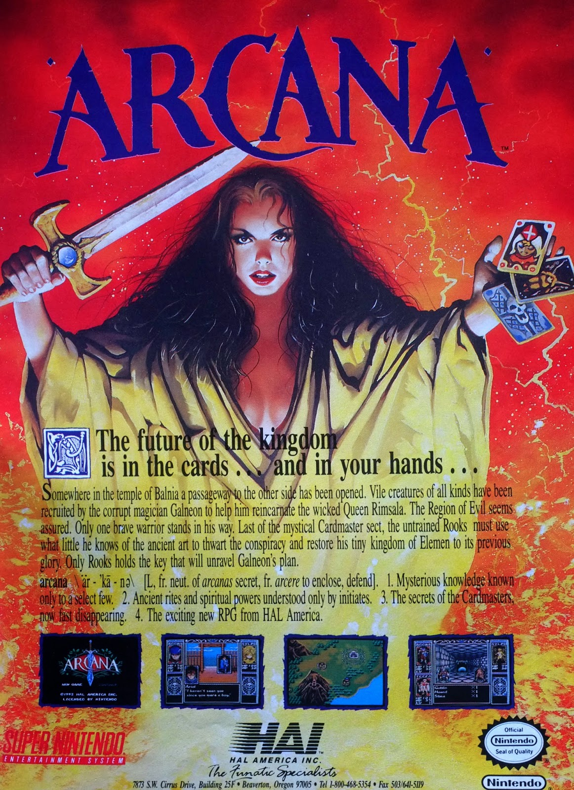 Arcana for Super NES advertisement